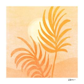 Abstract Golden Landscape