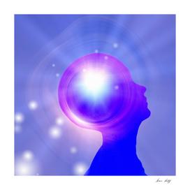 Human Head with Light