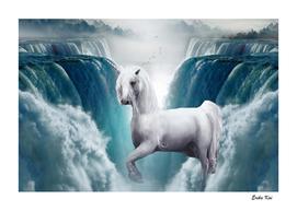 Unicorn and Waterfalls