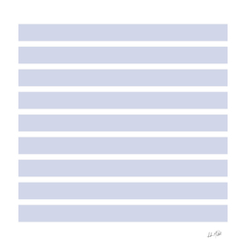 Foggy Blue and White Nautical Stripes