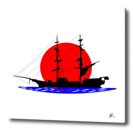 SAIL SHIP IN THE EVENING