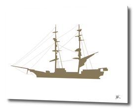 SAIL SHIP-GREY