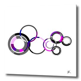 GREY AND PURPLE CIRCLES
