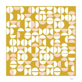 Mid Century Modern organic geometric pattern 8