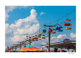 Skylift Over Cumming Fair