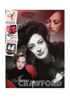 Joan Crawford Collage Portrait