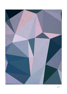 Lilac Blush & Blue Geometry