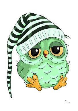 green owl cartoon clip art