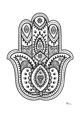 mandala drawing hamsa hand