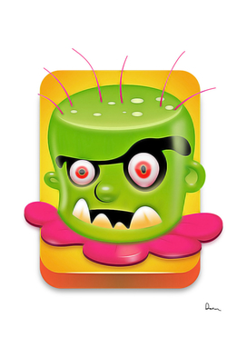 cartoon green animation smile