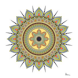 motif circle vintage circular pattern