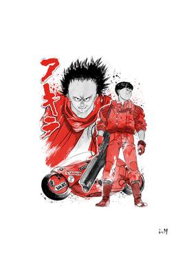 Kaneda and Tetsuo sumi-e