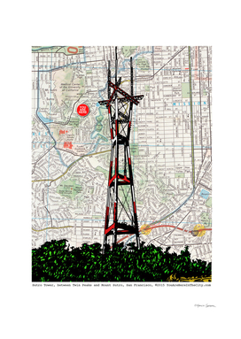 Sutro tower Twin Peaks Neighborhood San Francisco California