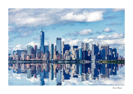 NYC with Reflection