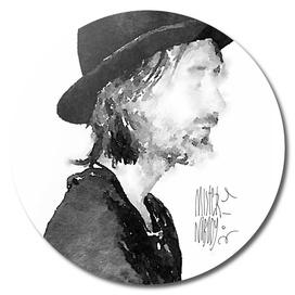 Thom Yorke watercolor portrait by MrN