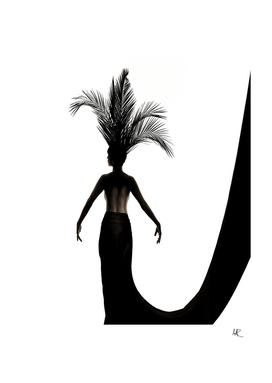 Palmleaf headdress