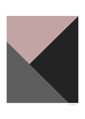 Dusty Blush meets Charcoal & Gray Geometric #1 #minimal