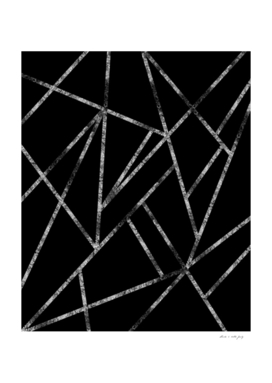 Classic Black Silver Geo #1 #geometric #decor #art