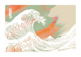 Calm into Great Wave Paint  I