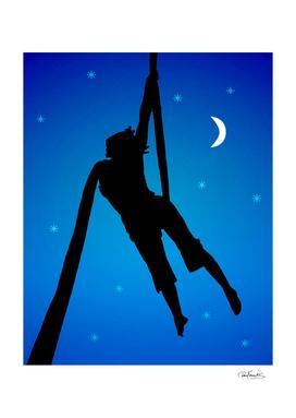 Fantasy Silhouette Style Illustration Scene