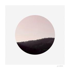 Circular landscape moody hill