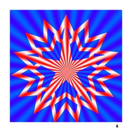 star explosion burst usa red blue