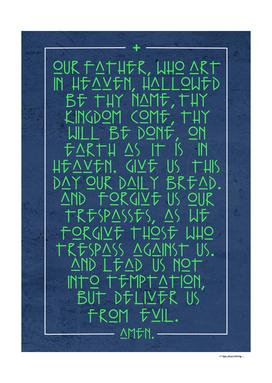 Hail Mary prayer digital illustration