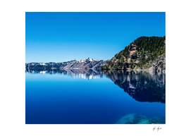 Blue Lake Rocky Mountain Reflection