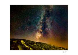 Milky Way Cosmic Dust Above the Ski Runs
