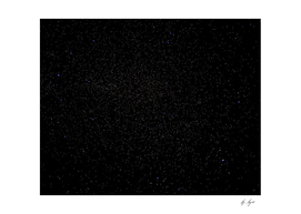 Stars in the Dark Abyss Long Exposure Night Sky