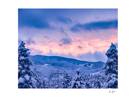 Deep Powder and Fire Orange and Blue Sunset