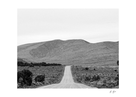 Black and White Scenery on the Long Road out of Town