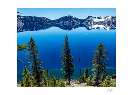 Crater Lake National Park Deep Blue Water Colors