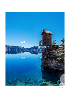 Crater Lake Blue Water Reflection
