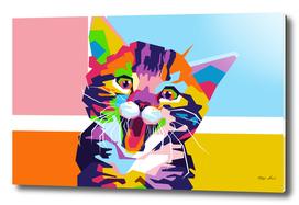 Cute Cat in WPAP Modern Art