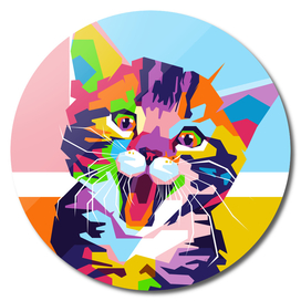 Cute Cat in WPAP Modern Art