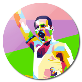 Freddie Mercury Live Aids in WPAP Modern Art