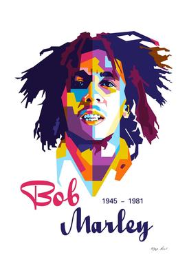 Bob Marley Poster in WPAP Modern Art