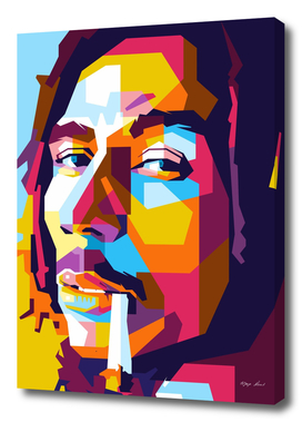 Bob Marley Smoking in WPAP Modern Art