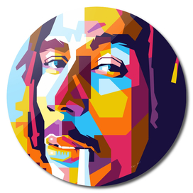 Bob Marley Smoking in WPAP Modern Art