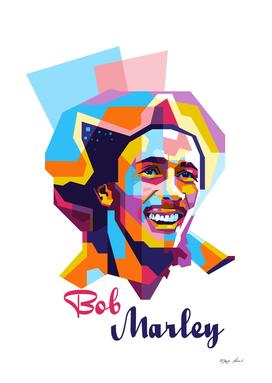 Bob Marley Smile in WPAP Modern Art