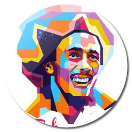 Bob Marley Smile in WPAP Modern Art