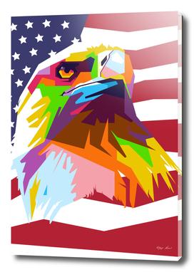 United States Eagle in WPAP Modern Art