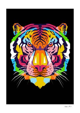 Tiger in WPAP Modern Art