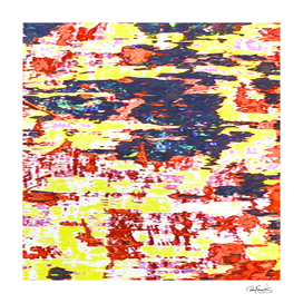 Multicolored Abstract Grunge Texture Print