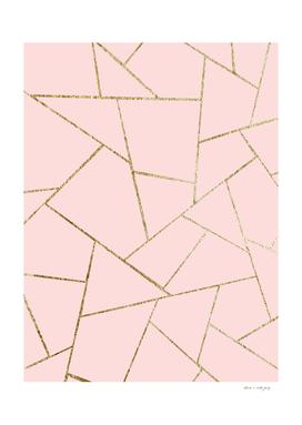 Blush Pink Gold Geometric Glam #1 #geo #decor #art