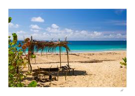 Sandy Beach of Tropical Island