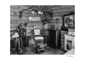 Antique Dentist Office BW