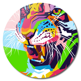 Tiger in WPAP Modern Art