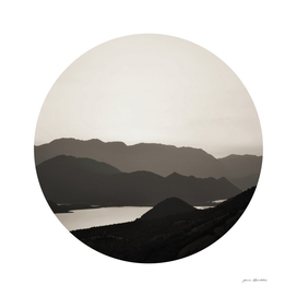 Circular Landscape Mountains